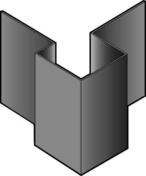 Angle extérieur asymétrique en aluminium pour bardage en clins CEDRAL- OPERAL long.3,00m brun atlas - Fenêtre bois exotique lamellé collé sans aboutage 1 vantail ouvrant à la française vitrage imprimé droit tirant haut.95cm larg.80cm - Gedimat.fr