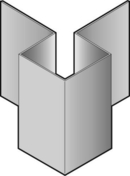 Angle extérieur symétrique en aluminium pour bardage en clins CEDRAL- OPERAL long.3,00m anthracite - Grille métallique à persiennes avec moustiquaire pose en applique dim.15x15cm aluminium blanc RAL 9010 - Gedimat.fr
