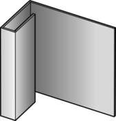 Profil de finition en aluminium pour bardage CEDRAL - OPERAL long.3,00m coloris brun atlas - Rive individuelle verticale à emboîtement gauche grand rabat coloris patrimoine - Gedimat.fr