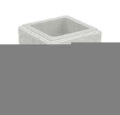 Elément de pilier CHEVERNY 30x30cm haut.25cm coloris blanc cassé - Piliers - Murets - Aménagements extérieurs - GEDIMAT