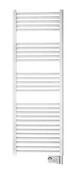 Sèche serviettes à fluide caloporteur BASIC 500W haut.92,7 cm long.48cm prof.8,5 cm blanc - Chauffage salle de bain - Salle de Bains & Sanitaire - GEDIMAT