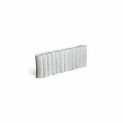 Bordure palissade Mambo ronde ép.8cm dim.50x25cm coloris gris - Bordures de jardin - Revêtement Sols & Murs - GEDIMAT