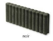 Bordure palissade Mambo ronde ép.8cm dim.50x35cm coloris noir - Bordure palissade Mambo rectangulaire ép.6cm dim.50x20cm coloris noir - Gedimat.fr