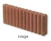 Bordure palissade Mambo ronde ép.6cm dim.50x20cm coloris rouge - Bordures de jardin - Aménagements extérieurs - GEDIMAT