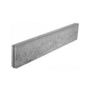 Bordure droite Mambo ép.6cm dim.100x30cm coloris gris - Pavé en pierre reconstituée CHINON en bande de 6 pavés ép.2cm larg.12cm long.1,02m coloris gris - Gedimat.fr