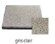 Dalle terrasse Rumba ép.3,7cm dim.40x40cm coloris gris clair - Dalle terrasse Rumba ép.3,7cm dim.40x40cm coloris anthracite gris - Gedimat.fr