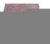 Dalle terrasse Rumba ép.3,7cm dim.40x40cm coloris rouge - Dalle pierre naturelle Rox Bluestone Bouchardée ép.2,5cm dim.40x40cm coloris bleutée - Gedimat.fr