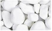 Galets blancs granulométrie 40/60mm sac de 25kg - Brique pilée calibre 5/18mm sac de 18LM - Gedimat.fr