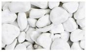 Gravier décoratif en pierre naturelle CARRARA rond 2,5-4cm sac de 25 kg coloris marbre blanc - Gravier marbre bleu TURQUIN sac de 25kg - Gedimat.fr