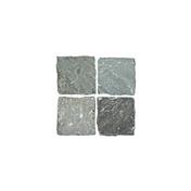 Pavé carré en grès indien Cobles 140x140mm gris - Pavés - Dallages - Matériaux & Construction - GEDIMAT