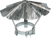 Chapeau chinois en acier galvanis� � chaux N�6 diam�tre du tuyau 200 � 225mm - Quincaillerie de couverture et charpente - Quincaillerie - GEDIMAT