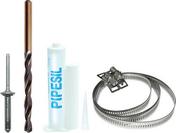 Kit de fixation F2 pour PIPECO ou PIPECLAIR sur couverture bac acier ou panneau sandwich - Quincaillerie de couverture et charpente - Quincaillerie - GEDIMAT