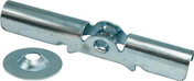 Piton à bascule pour tige M6 en acier galavnisé long.85mm diamètre du rond 25mm boîte de 25 pièces - Coude joint instantané raccord sans soudure diam.12mm - Gedimat.fr
