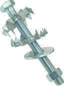 Boulon d'ancrage pour crochet SECURIT 2005 diam.12mm long.140mm - 1 sachet - Quincaillerie de couverture et charpente - Quincaillerie - GEDIMAT