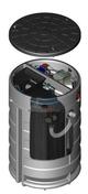 Aspirateur extracteur statique en béton SEBICAPE pour souche avec doublage dim.int.30x50cm - Sorties de toit - Couverture & Bardage - GEDIMAT