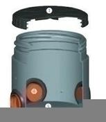 Boîte standard en polyéthylène SM4P diam.int.40cm 4 entrées diam.10cm 4 sorties diam.10cm haut.40cm - Colle d'assemblage BOIS WATERPROOF PATTEX bouteille de 250g - Gedimat.fr