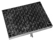 Couvercle en fonte + cadre acier Telecom C250 L1T avec logo - Manchon laiton brut femelle-femelle égal 270AB à butée intérieure diam.12x17mm 1 pièce - Gedimat.fr
