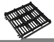 Grille fonte C250 carrée plate avec cadre de 40x40cm - Poutre NEPTUNE section 12x40 cm long.5,50m pour portée utile de 4.6 à 5.1m - Gedimat.fr
