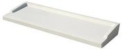 Appui de fenêtre en béton polymère REXLAN R270 finition carrée coloris blanc littoral prof.27cm long.1,30m - Porte de service isolante VANNES en PVC gauche poussant haut.2,00m larg.80cm - Gedimat.fr