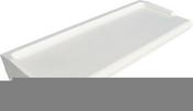 Appui de fenêtre en béton polymère REXLAN R340 finition arrondi coloris blanc littoral prof.34cm long.1,80m - Cheville fonte à expansion GM-S 8 diam.15mm long.50mm avec vis diam.8mm long.60mm 4 pièces - Gedimat.fr