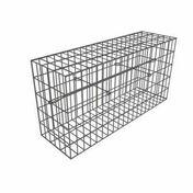 Kit gabion 50x50x50 cm maille 10x5 cm fil de diam�tre 4,5 mm - Piliers - Murets - Am�nagements ext�rieurs - GEDIMAT