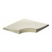 Margelle galbée angle 90° en béton ESPACE ép.3,4cm dim.50x50cm coloris Lubéron - Feuille de stratifié HPL sans Overlay ép.0.8mm larg.1,30m long.3,05m décor Blanc Antik finition Brillant - Gedimat.fr