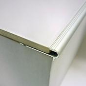 Nez de marche en aluminium Florentin pose encastré pour carrelage Long.2,50m haut.10mm - Accessoires pose de carrelages - Revêtement Sols & Murs - GEDIMAT