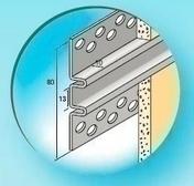 Joint creux Aluminium anodisé ép.10mm long.3,00m - Enduits de façade - Aménagements extérieurs - GEDIMAT