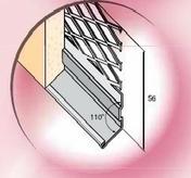 Solin d'arrêt d'enduit déployé en acier galvanisé long.3m pour épaisseur d'enduit 10 mm à projeter - Enduits de façade - Aménagements extérieurs - GEDIMAT