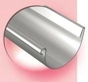 Gouttière demi-ronde avec pince zinc naturel ép.0,65mm développé 333mm long.4m - Demi-tuile PLATE PRESSEE 17x27 coloris rouge nuance - Gedimat.fr