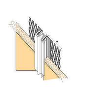 Joint de dilatation monobloc universel déployé avec jonc pvc blanc long.3m - Carrelage pour mur en faïence brillante MAIOLICA dim.20x20cm coloris nero - Gedimat.fr