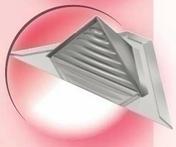 Châtière triangulaire complète en zinc naturel - Plaques de couverture - Couverture & Bardage - GEDIMAT