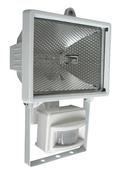 Projecteur 400 Watts avec détecteur blanc et tube R7S - Projecteurs - Baladeuses - Hublots - Electricité & Eclairage - GEDIMAT