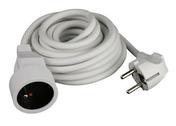 Câble souple H05VV-F 3G1,5mm² en couronne de 5m blanc - Fils - Câbles - Electricité & Eclairage - GEDIMAT
