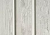 Bardage Sapin du Nord Extra profil Ontario2 ép.19mm larg.(utile) 122mm long.2,95m Gris Lumière - Corniche polyuréthane 55x55mm long.2,00m ton blanc - Gedimat.fr
