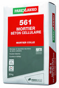 Mortier colle 561 MORTIER BETON CELLULULAIRE sac de 25kg - Chevêtre ULYSSE section 15x20 cm long.2.40m - Gedimat.fr