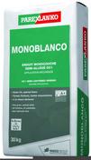 Enduit monocouche semi-allégé spécial blanc MONOBLANCO sac de 30kg - Protège-angle sortant en acier galvanisé perforé avec jonction PVC blanc ép.15mm long.2,50m - Gedimat.fr