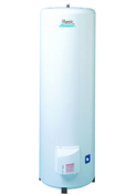 Chauffe-eau OLYMPIC Sauter vertical sur socle 300L blanc - Demi-tuile gauche MONTCHANIN LOSANGEE coloris rouge - Gedimat.fr