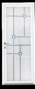 Porte d'entrée Aluminium FUYA gauche poussant haut.2,15m larg.90cm laqué blanc - Portes d'entrée - Menuiserie & Aménagement - GEDIMAT