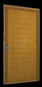 Porte de service MARVEJOLS en bois exotique rouge gauche poussant haut.2,15m larg.90cm - Jeu de 2 fers rabot HM 92x30x3 hitachi - Gedimat.fr