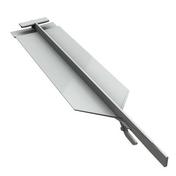 Pièce de jonction invisible PVC pour bardage cellulaire original à recouvrement 16 x 40 x 190 mm Gris Clair Silver - Grille anti-rongeurs 40,00mm x 27,00mm - Gedimat.fr
