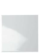 Carrelage pour mur en faïence dim.20x20cm blanche brillante lisse - Té tampon émaillé noir mat diam.130mm - Gedimat.fr