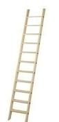 Echelle sapin de mezzanine montée sans rampe Haut.3,00m larg.50cm - Raccord 3 branches TBF coloris vieilli languedoc - Gedimat.fr