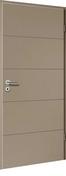 Bloc-porte laqué HANOVRE huisserie cloison 100 à 116mm finition macchiato haut.204cm larg.83cm gauche poussant - Portes d'intérieur - Menuiserie & Aménagement - GEDIMAT