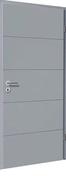 Bloc-porte laqué HANOVRE huisserie cloison 100 à 116mm finition mastic haut.204cm larg.83cm gauche poussant - Portes d'intérieur - Menuiserie & Aménagement - GEDIMAT