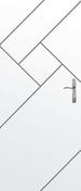 Porte seule gravée avec inserts à poser non inclus LABYRINTHE haut.2,04m larg.93cm - Arêtier cornier coloris vieillie chateau - Gedimat.fr
