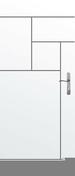 Porte seule gravée avec inserts à poser non inclus CITY haut.2,04m larg.93cm - Bloc-porte ZIRCON isolant  huisserie 72x46mm en MDF enrobé placage chêne brut 1er choix haut.204cm larg.83cm droit poussant - Gedimat.fr