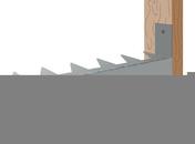 Attache Dentisol pour le maintien de l'isolant entre chevrons, 100 pièces - Accessoires isolation - Isolation & Cloison - GEDIMAT