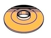 Rondelle à bossage pour faitières et rives, dia.34mm, RAL 8004 Brun Cuivre, 100 pièces - Bacs acier - Couverture & Bardage - GEDIMAT