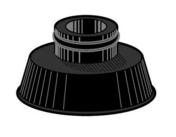 Rondelle à cheminée EPDM dia.6, pour plaquette, 100 pièces - Boulons - Ecrous - Rondelles - Quincaillerie - GEDIMAT